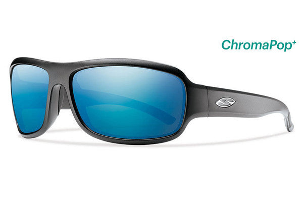 Smith - Drop Elite Matte Black Tactical Sunglasses, Chromapop Polar Blue Mirror Lenses