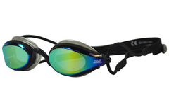 Zoggs Podium Mirrored Black Swim Goggles