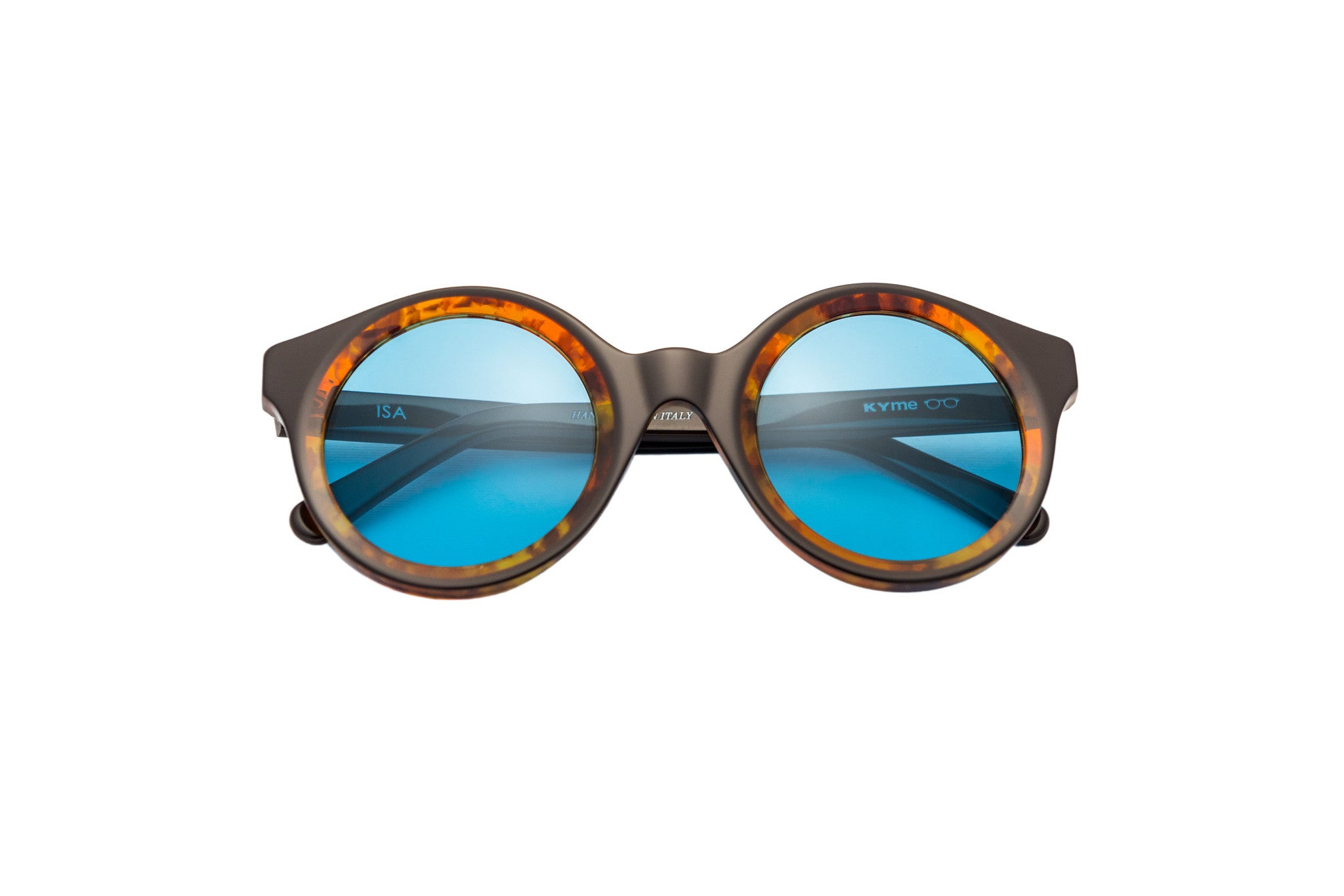 Kyme - Isa Honey Havana & Top Brown Sunglasses