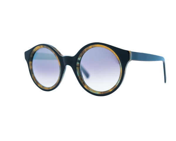 Kyme - Isa Camou Aqua & Black Top Sunglasses
