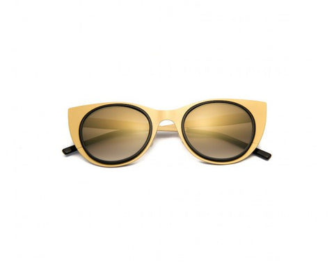 Kyme - Angel Light Satin Gold Sunglasses