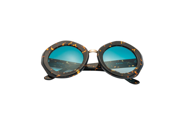Kyme - Rosa Dark Havana Tortoise & Rose Gold Sunglasses