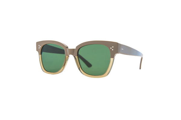 Kyme - Terry Sand & Green Sunglasses