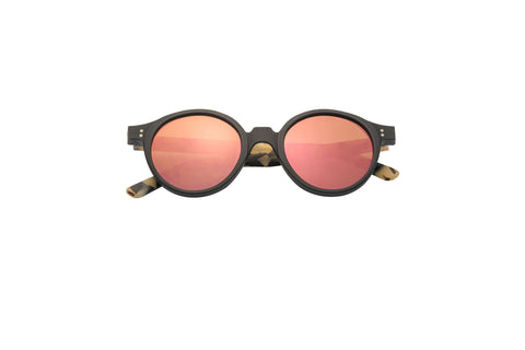 Kyme - Oscar Black Front & Havana Arm Sunglasses