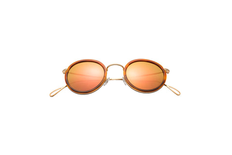 Kyme - Matti Shiny Gold & Rose Sunglasses