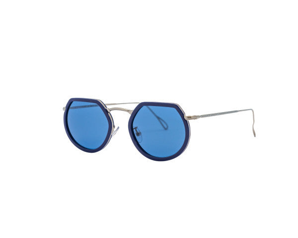 Kyme - Pierre Shiny Silver Sunglasses