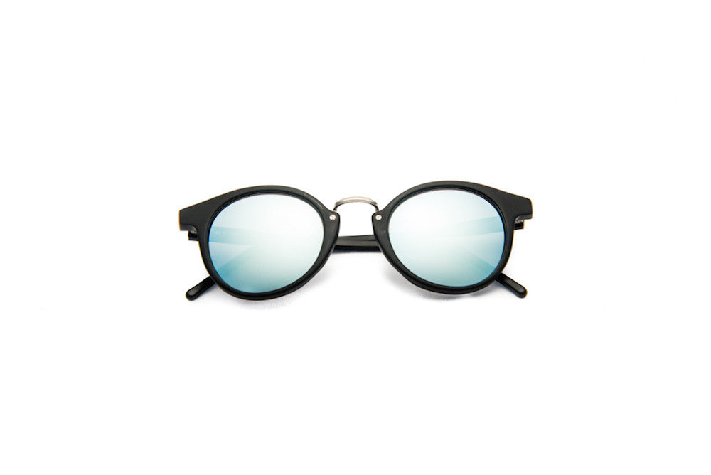 Kyme - Frank Black Satin Silver Sunglasses