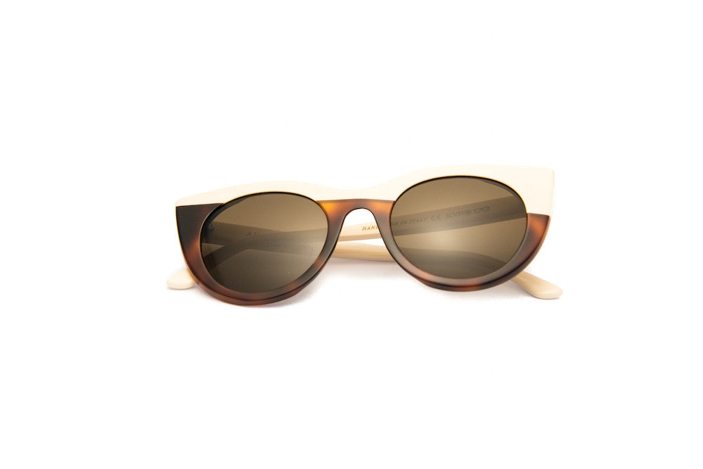 Kyme - Angel Cream & Tortoise Sunglasses