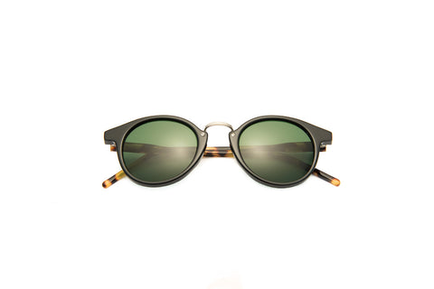 Kyme - Frank Black Tortoise Arm Sunglasses