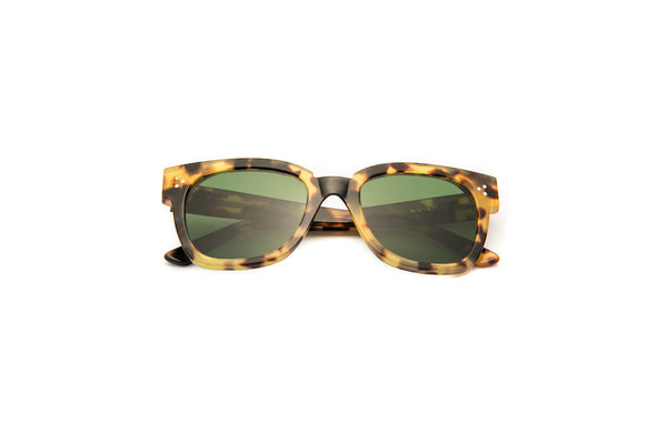 Kyme - Terry Tortoise Green Sunglasses