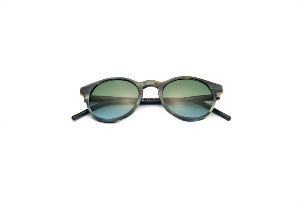 Kyme - Miki Striped Grey Sunglasses