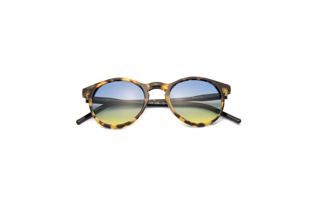 Kyme - Miki Yellow Tortoise & Black Arm Sunglasses