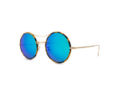 Kyme - Ros Piu Sky Blue Mirrored Sunglasses