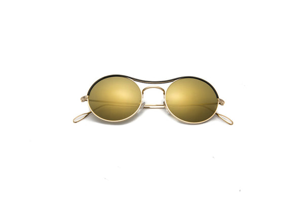 Kyme - Ros Top Gold Mirrored Sunglasses