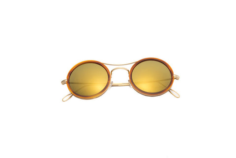Kyme - Ros Cell Dark Gold Sunglasses