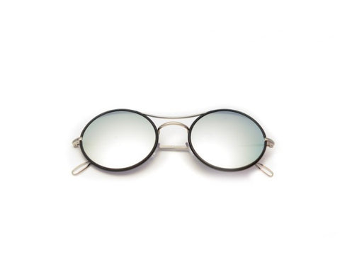Kyme - Ros Piu White Mirrored Sunglasses