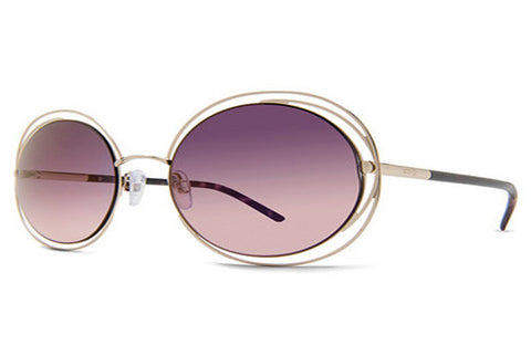 Dot Dash - Sparkle Powder Rose Gold RGK Sunglasses, Pink Chrome Lenses