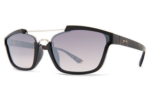 Dot Dash - Confuego Shadow Tortoise Gloss KTS Sunglasses, Silver Chrome Gradient Lenses