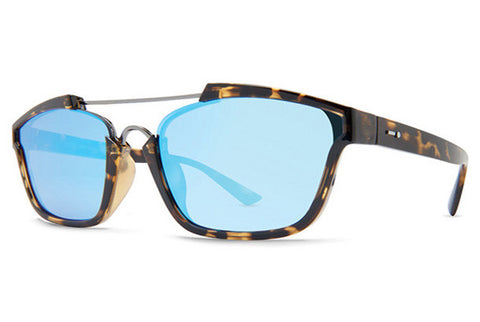 Dot Dash - Confuego Tortoise Gloss TBL Sunglasses, Blue Chrome Lenses