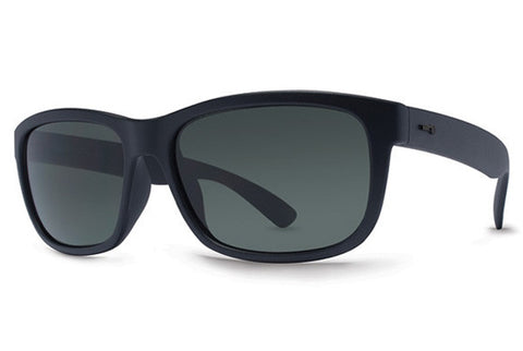 Dot Dash - Lil Poseur Black Satin BKS Sunglasses, Grey Lenses