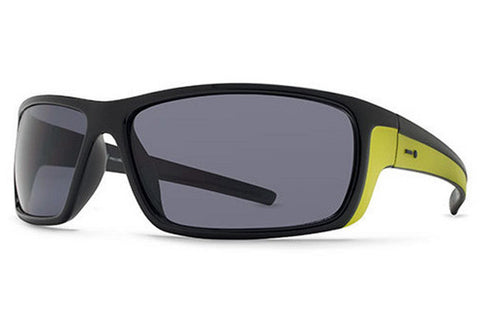 Dot Dash - Lil Dyno Black Lime BLI Sunglasses, Grey Lenses