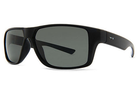 Dot Dash - Turbo Black Satin BKS Sunglasses, Retro Grey Lenses