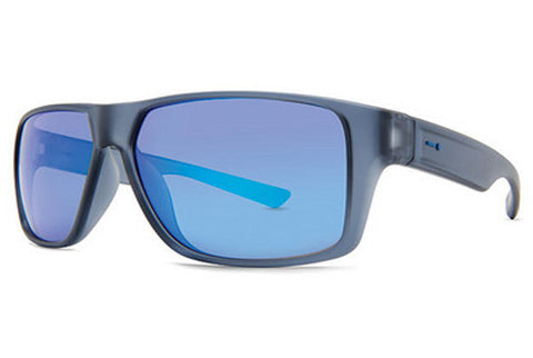 Dot Dash - Turbo Grey Satin GSS Sunglasses, Ice Blue Chrome Lenses
