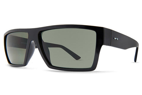 Dot Dash - Nillionaire Black Gloss BKV Sunglasses, Retro Grey Lenses