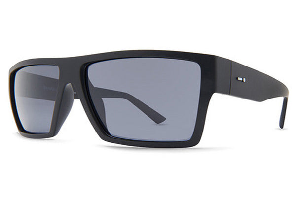 Dot Dash - Nillionaire Black Satin BSP Sunglasses, Grey Polarized Lenses