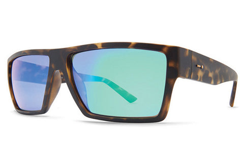 Dot Dash - Nillionaire Tortoise Satin TSG Sunglasses, Green Chrome Lenses