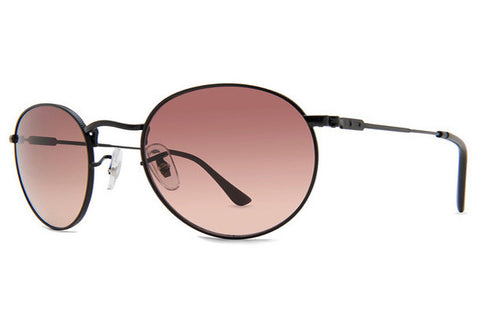 Dot Dash - Velvatina Black Satin BBC Sunglasses, Brown Gradient Lenses