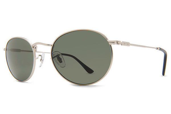Dot Dash - Velvatina Silver Gloss SGV Sunglasses, Retro Grey Lenses
