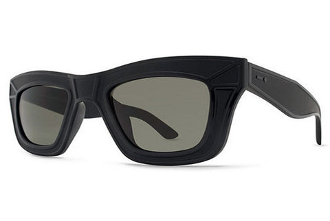 Dot Dash - Hacktivist Black Satin BKS Sunglasses, Retro Grey Lense