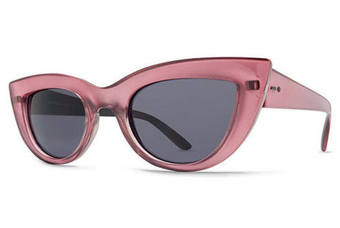 Dot Dash - Starling Pink Black Gloss BPK Sunglasses, Grey Lenses