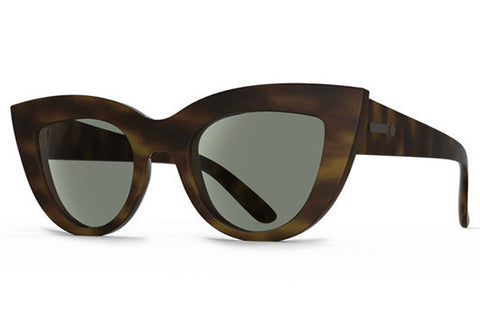 Dot Dash - Starling Tortoise Cyan Satin TOR Sunglasses, Retro Grey Lenses