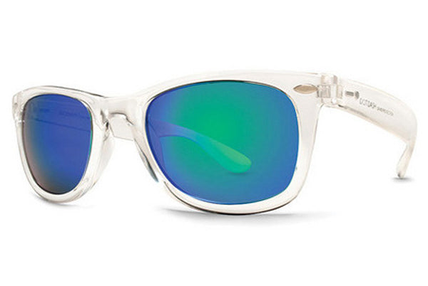 Dot Dash - Plimsoul Crystal CRX Sunglasses, Green Chrome Lenses