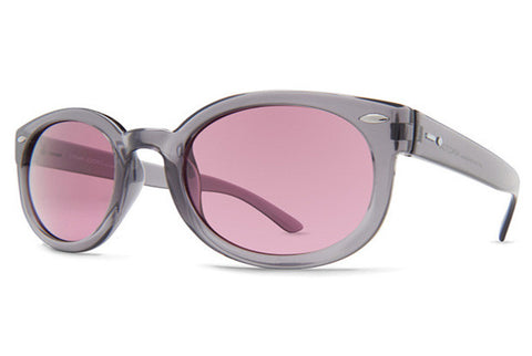 Dot Dash - Pool Party Grey Translucent GRO Sunglasses, Rose Lenses