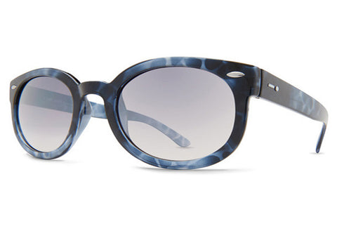 Dot Dash - Pool Party Blue Tortoise Gloss UTV Sunglasses, Silver Chrome Gradient Lenses