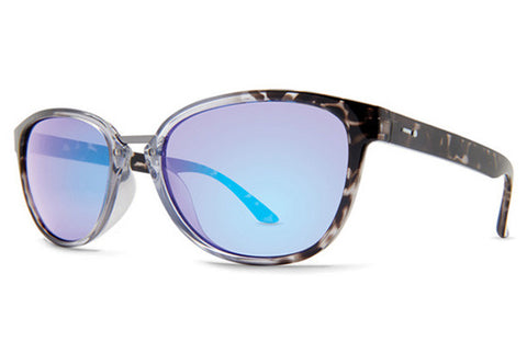Dot Dash - Summerland Shadow Tortoise Fade SFB Sunglasses, Blue Chrome Lenses
