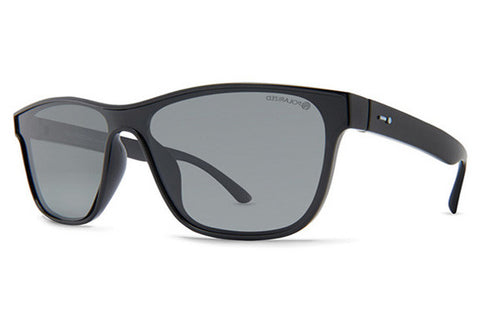 Dot Dash - Automator Black Gloss BPP Sunglasses, Grey Polarized Lenses
