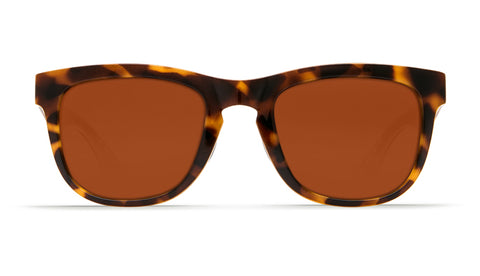 Costa - Copra  Shiny Retro Tortoise + Cream Salmon Sunglasses / Copper Polarized Plastic Lenses