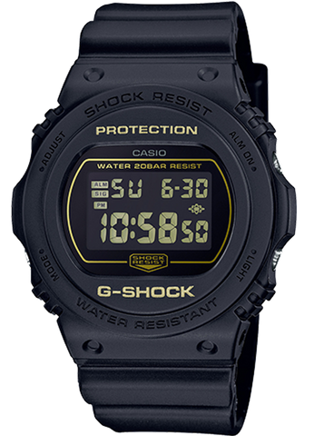 G-Shock - DW5700BBM-1 Black Gold Watch
