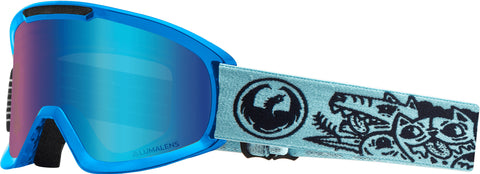 Dragon - DX2 Danger Snow Goggles / Blue Ion + Amber Lenses