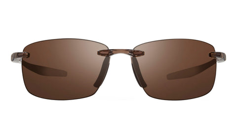 Revo - Descend N 64mm Crystal Brown Sunglasses / Terra Lenses