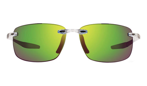 Revo - Descend N 64mm Crystal Sunglasses / Green Water Lenses