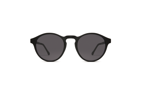Komono - Devon Metal 51mm Black Sunglasses / Solid Smoke Lenses