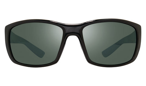 Revo - Dexter 64mm Black Sunglasses / Smoky Green Lenses