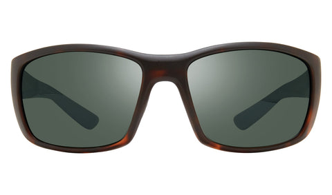 Revo - Dexter 64mm Matte Tortoise Sunglasses / Smoky Green Lenses