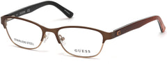 Guess - GU9170 Matte Dark Brown Eyeglasses / Demo Lenses