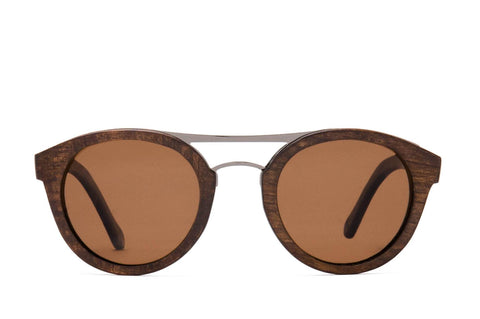 Proof - Grove Wood Stained Maple Sunglasses / Brown Polarized Lenses
